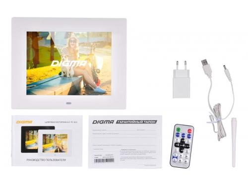 Цифровая фоторамка Digma PF-833, белая, вид 4