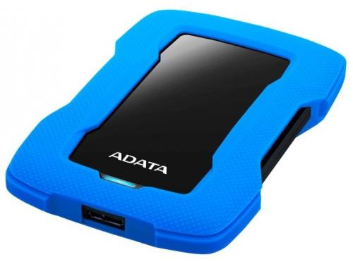Внешний жёсткий диск Adata AHD330-1TU31-CBL 1Tb, синий, вид 1
