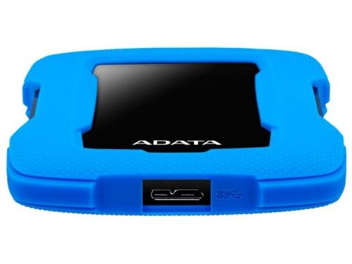 Внешний жёсткий диск Adata AHD330-1TU31-CBL 1Tb, синий, вид 2