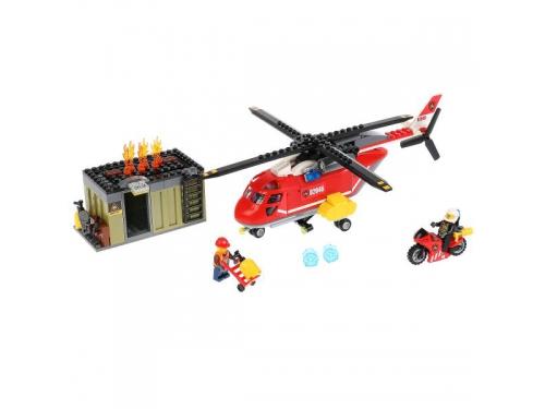 Конструктор Город мастеров (LP-3512-R) Пожарный вертолет, с фигурками, вид 1