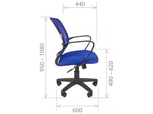 Кресло офисное Chairman 698 TW черный sl, вид 3