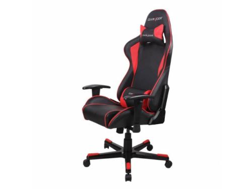 Игровое компьютерное кресло DxRacer OH/FE08/NR черное/красное, вид 1