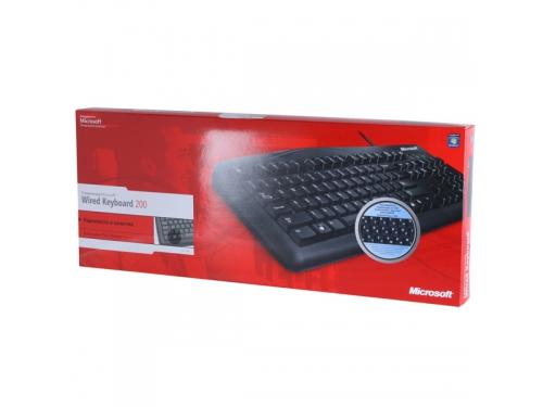 Клавиатура Microsoft Wired Keyboard 200 Black USB (JWD-00002), вид 6