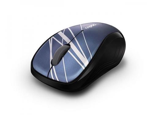 Мышка Rapoo 3100p, синяя, вид 2