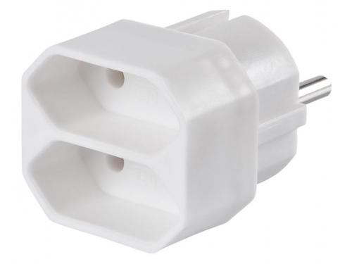 Разветвитель электропитания Buro BU - PS2F - W, белый, вид 1