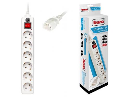 Сетевой фильтр Buro 600SH-1.8-UPS-W, белый, вид 2