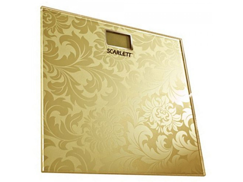 Напольные весы Scarlett SC-217, золотистые, вид 1