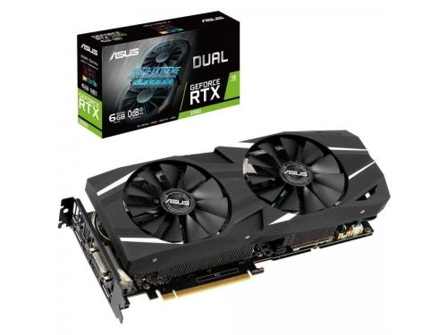Видеокарта GeForce Asus PCI-E NV RTX 2060 DUAL-RTX2060-6G 6GB, вид 1