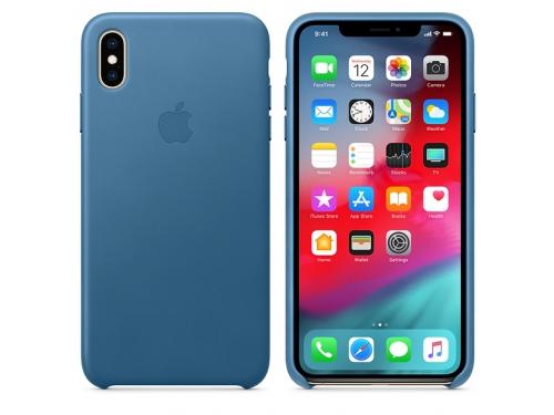 Чехол для смартфона Apple Leather Case для iPhone XS Max Cape Cod Blue (MTEW2ZM/A), вид 2