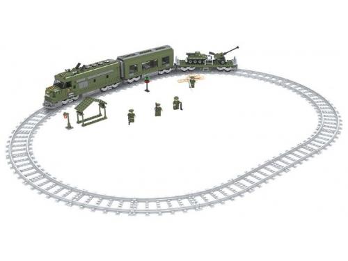 Конструктор Голубая стрела Железная дорога 87193 Военный эшелон (839 деталей), вид 1