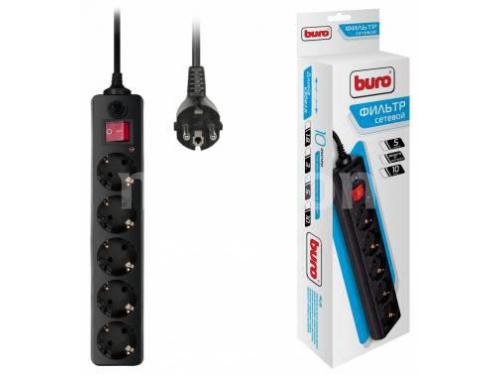 Сетевой фильтр Buro 500SH - 5 - B, черный, вид 2