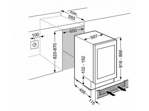 Холодильник Liebherr UWT 1682 серебристый, вид 2