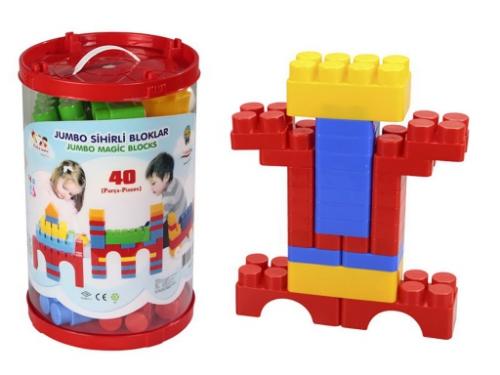 Конструктор Pilsan Magic Blocks 03-216 40 деталей (пластик), вид 1