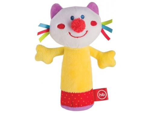Игрушка Happy Baby погремушка Кот с пищалкой 330358, вид 1