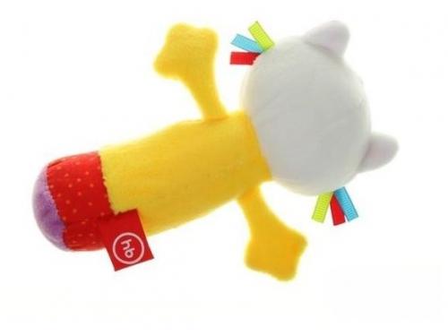Игрушка Happy Baby погремушка Кот с пищалкой 330358, вид 2