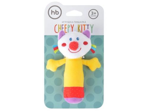 Игрушка Happy Baby погремушка Кот с пищалкой 330358, вид 4