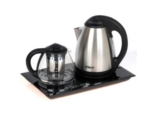 Набор чайников Unit UEK-232, черный / нержавеющая сталь, вид 1