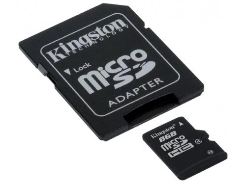 Карта памяти Kingston SDC4/8GB 8Gb  + adapter, вид 1