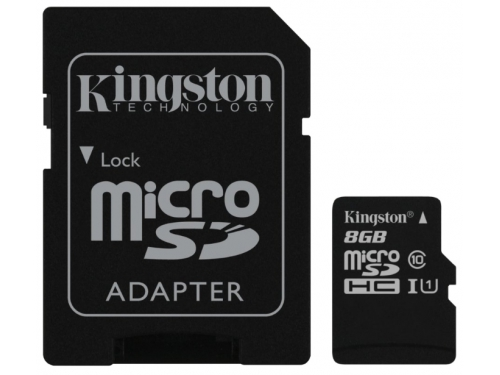 Карта памяти Kingston SDC10G2/8GB + adapter, вид 2