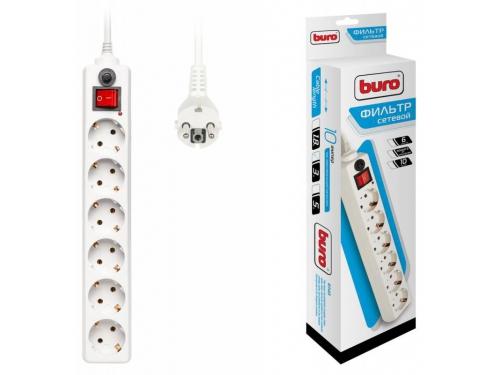 Сетевой фильтр Buro 600SH - 3 - W, белый, вид 2