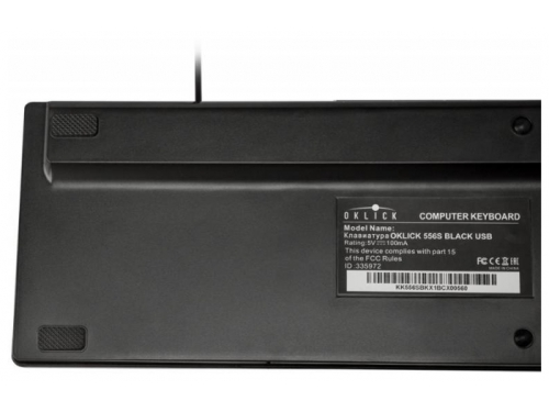 Клавиатура Oklick 556S USB, чёрная, вид 6