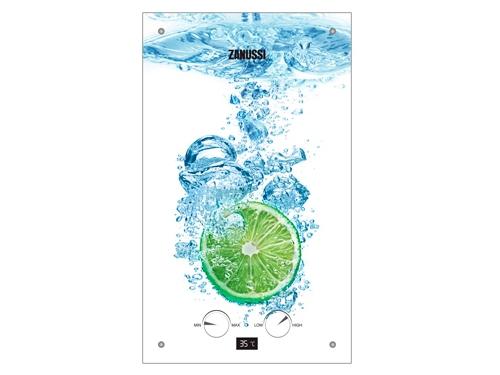 Водонагреватель Zanussi GWH 10 Fonte Glass Lime (газовый), вид 1