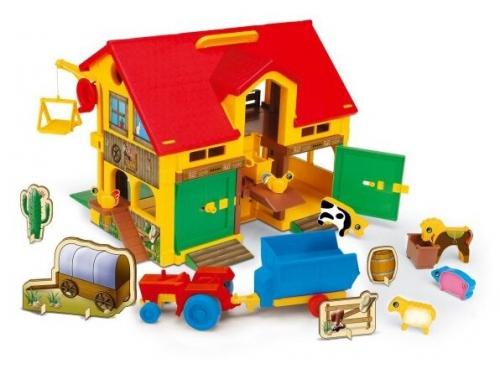 Игрушки для девочек Wader Домик ферма (25450), вид 1