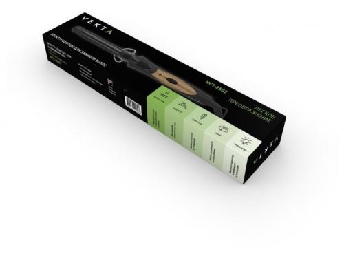 прибор для укладки Щипцы для завивки Vekta HCT-2502 черный/золотой, вид 5