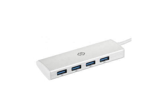 USB-концентратор Digma HUB-4U3.0-UC-S серебристый, вид 1