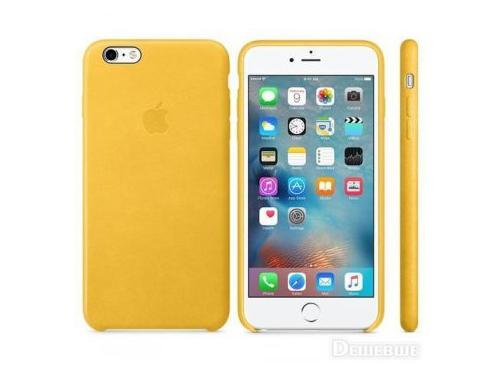 Чехол iphone Apple для Apple iPhone 6S Plus MMM32ZM/A , желтый, вид 1