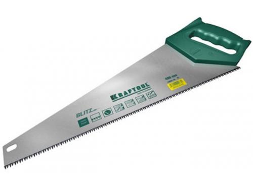 Пила ручная KRAFTOOL BLITZ, ножовка, 450 мм, поперечный распил, 7 TPI, вид 1
