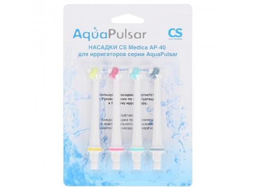 Аксесуар для зубной щётки сменные насадки CS Medica AP-40 серии Aqua Pulsar, для ирригатора, вид 2