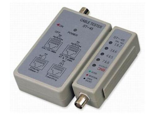 Монтажный инструмент Telecom LAN ST-45 (LY-CT001), тестер для сетевых кабелей, BNC / RJ-45 [6926123456002], вид 1
