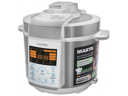 Мультиварка Marta MT-4309, белая/сталь, вид 1