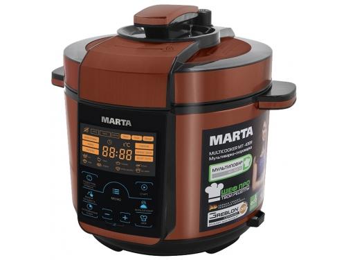 Мультиварка MARTA MT-4309 черная/красная, вид 1