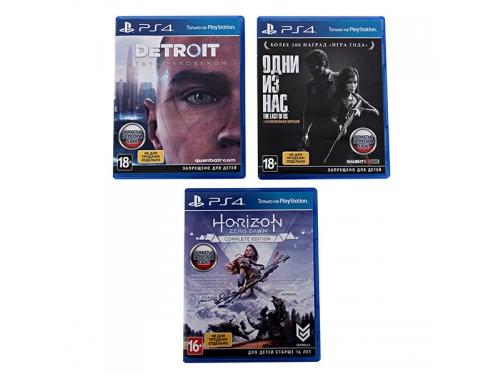Игровая приставка Sony PlayStation 4 Slim 1Tb (СUH-2208B), черная +Detroit+HZD+Одни из нас, вид 3