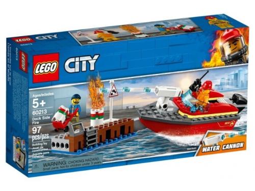 Конструктор LEGO CITY Пожар в порту (60213), вид 1