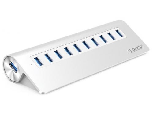 USB-концентратор Orico M3H10 (серебристый), вид 1