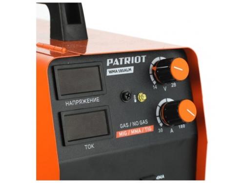 Сварочный аппарат Patriot WMA 185AL MIG/MAG/MMA, полуавтоматическая сварка, вид 5