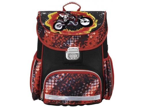Рюкзак детский Hama MOTORBIKE красный/черный, вид 1