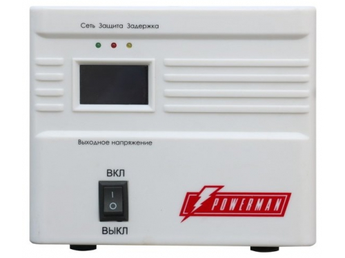 Стабилизатор напряжения PowerMan AVS 500A 500VA, вид 1