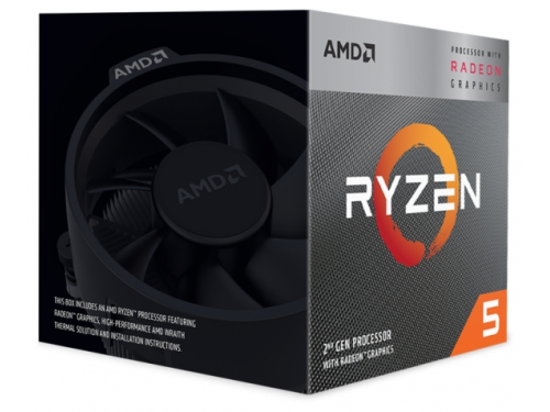 Процессор AMD X4 R5-3400G (BOX) (Socket AM4) 3700MHz RX Vega 11 Graphics 65W, вид 1