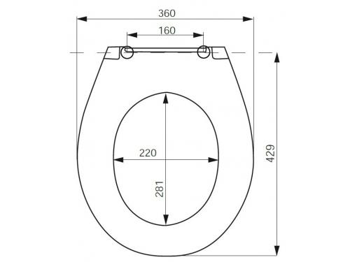 Сидение для туалета Iddis ID139DP, белое, вид 2