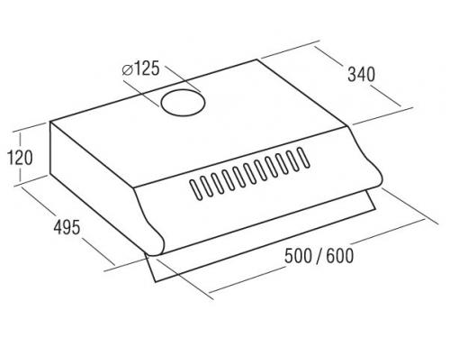 Вытяжка кухонная Cata P 3050 ESV, 380 куб. м/ч, вид 2