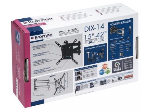 Кронштейн для телевизора Kromax DIX-14 черный, вид 6