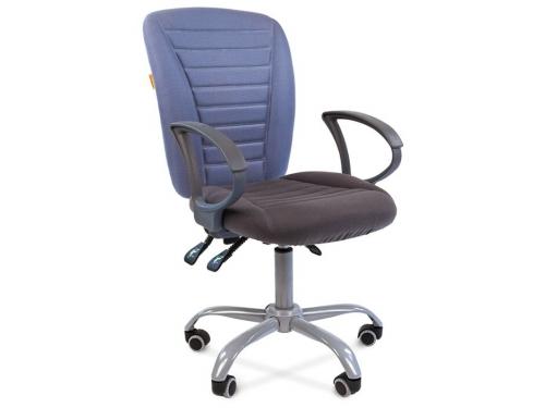Кресло офисное Chairman 9801 Эрго Россия сид.10-128 серый/сп.10-141 голубой, вид 1