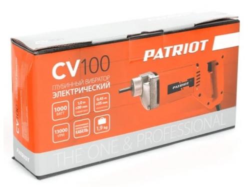 Строительное оборудование вибратор глубинный Patriot CV 100 (для бетона, 1000 Вт, с гибким валом и булавой), вид 8