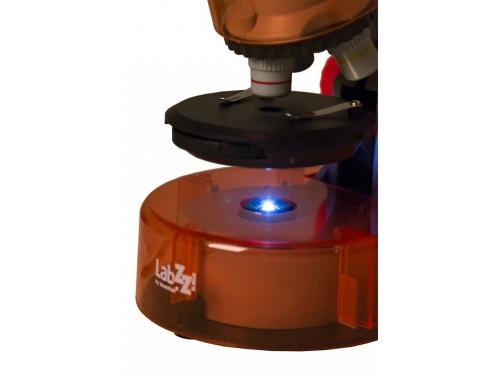 Микроскоп Levenhuk LabZZ M101, апельсиновый, вид 3