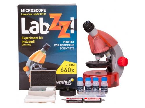 Микроскоп Levenhuk LabZZ M101, апельсиновый, вид 4