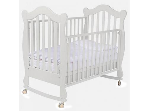 Детская кроватка Papaloni Favola 120х60, колесо-качалка, Гоголь-моголь, вид 1